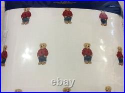 Polo Ralph Lauren Twin Boy Teddy Bear Comforter & Standard Sham NWT