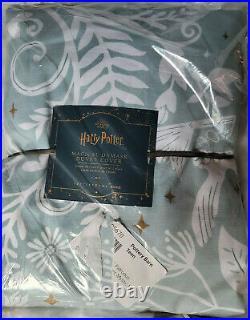 Pottery Barn HARRY POTTER Magical Damask Duvet Mystic Mint Twin