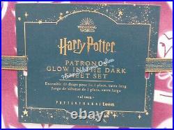 Pottery Barn HARRY POTTER Magical Damask Sheet Set Twin/ XL Burgundy Red #F31