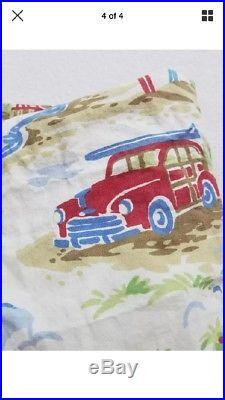 Pottery Barn Kids 9 Piece Island Surf Twin Quilt, Duvet Mix Match Sheer Set