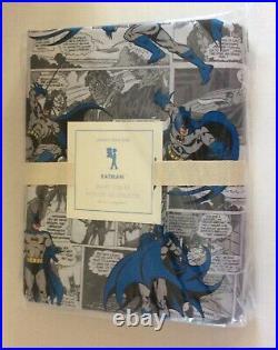 Pottery Barn Kids BATMAN COMICS Twin DUVET Superhero DC Comics New