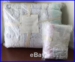 Pottery Barn Kids Bailey Ruffle TWIN Quilt / Comforter & 1 STANDARD Sham