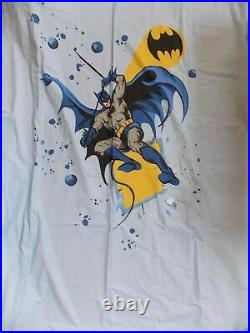 Pottery Barn Kids Batman and Robin Twin Duvet Cover and Sham NWT NLA