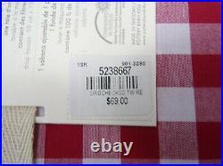 Pottery Barn Kids Boys Organic Cotton Gingham Check Sheet Set Twin Red #8334M