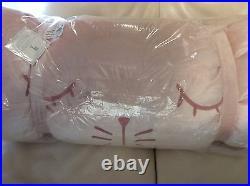 Pottery Barn Kids Bunny Shimmer Velvet Sleeping Bag NWT Light Pink