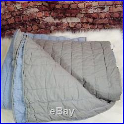 Pottery Barn Kids Chambray Branson Quilt Twin Blue Gray Reversible