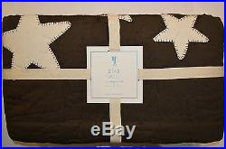 Pottery Barn Kids Chocolate Brown Star Quilt Twin #32