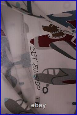 Pottery Barn Kids Cohen airplane plane twin sheet set, photo studio sample