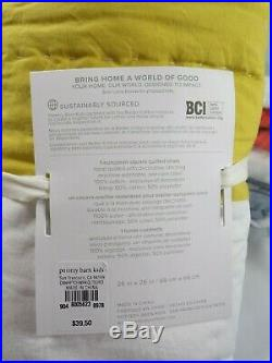 Pottery Barn Kids Connor Patchwork Quilt Twin With 1 Euro Sham #6308