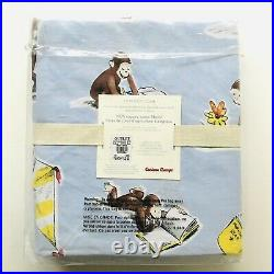 Pottery Barn Kids Curious George Toddler Organic Cotton TWIN Duvet Cover NEW