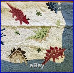 Pottery Barn Kids Dinosaur Twin Quilt San Francisco CA With Pillow Sham EUC