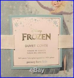 Pottery Barn Kids Disney Frozen Full Queen Duvet Cover Anna Elsa