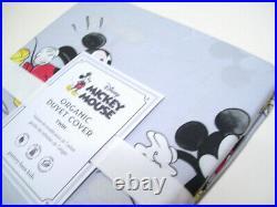 Pottery Barn Kids Disney Vintage Mickey Mouse Organic Twin Duvet Cover 1 Sham
