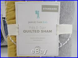 Pottery Barn Kids Field Day Quilt Twin Multi with One Standard Sham #6830