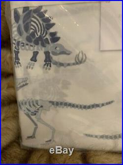 Pottery Barn Kids Glow in the Dark Dino Dinosaur Bones Organic Twin Sheet Cotyon