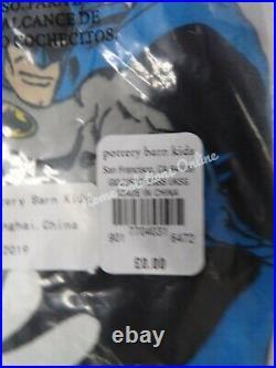 Pottery Barn Kids Glow in the Dark Justice League Superman Sheet Set Single #G33