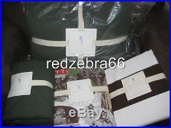 Pottery Barn Kids Green Dylan Twin Quilt Sham Return of Jedi Sheet Duvet Set 6pc
