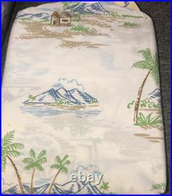 Pottery Barn Kids Island Toile TWIN SHEET Surf Beach Aloha Vibe Bed Teen NEW