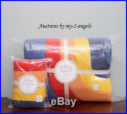Pottery Barn Kids JUSTINA BLAKENEY ASTRONOMAD Twin Quilt + Sham space vibrant