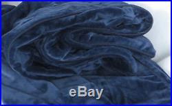 Pottery Barn Kids Luxe Chamois Twin Duvet Cover Navy Blue Ultra Soft Plush New