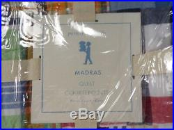 Pottery Barn Kids Madras Quilt Twin Twin Navy #2262