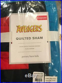 Pottery Barn Kids Marvel Avengers Twin Quilt & Standard Sham NEW