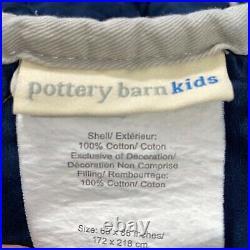 Pottery Barn Kids Marvel Heros Quilt & Sham Twin Hulk Iron Man Thor CPT America