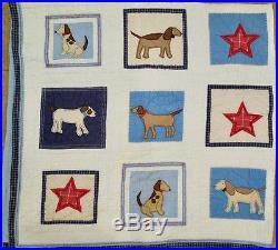 Pottery Barn Kids My Best Friend Twin Double Puppy Dog Comforter