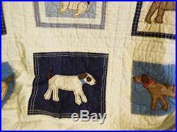 Pottery Barn Kids My Best Friend Twin double Puppy Dog COMFORTER Quilt + skirt