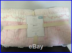Pottery Barn Kids New Bailey Ruffle Twin Quilt Blanket Nwt
