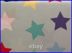 Pottery Barn Kids Organic Oversized Star Duvet & 1 Sham Twin Blue Multi New