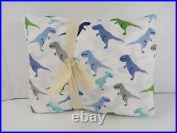 Pottery Barn Kids Organic Warren Dinosaur Sheet Set Twin Multi Color #7089