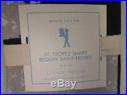 Pottery Barn Kids Saint Tropez Shark Requin Twin Duvet Cover & Standard Sham New