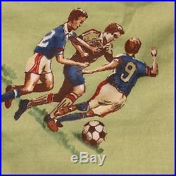 Pottery Barn Kids Soccer TWIN Duvet Green 100% Cotton 2007 Team Sports Boys