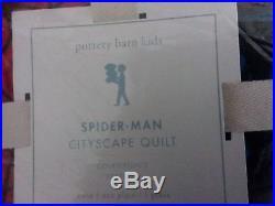 Pottery Barn Kids Spider man Quilt Twin Navy Blue #140