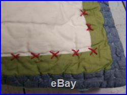 Pottery Barn Kids Sports BED SET Jr Varsity Twin Quilt Sham Comforter 2x pillows