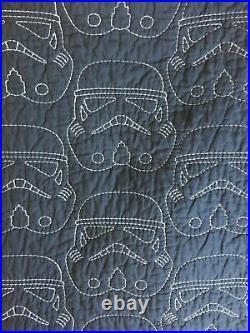Pottery Barn Kids Star Wars Darth Vader Stitched Quilt Sham Gray Sham