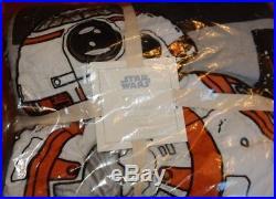 Pottery Barn Kids Star Wars Droid Twin Quilt + Standard Pillow Sham