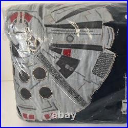 Pottery Barn Kids Star Wars Millennium Falcon Twin Quilt Coverlet Bedspread NEW