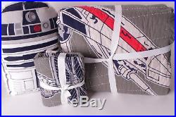 Pottery Barn Kids Star Wars x-wing TIE fighter twin quilt, sham & pillow xwing