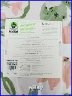 Pottery Barn Kids Tencel Garden Rose Floral Flower Duvet Cover Twin #4584