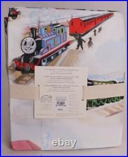 Pottery Barn Kids Thomas the Train cotton percale twin sheet set