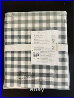 Pottery Barn Kids Twin Charcoal Gray Gingham Check Buffalo Plaid Twin Sheet Set