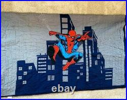 Pottery Barn Kids Twin Marvel Spider-Man Quilt RARE SOLD OUT