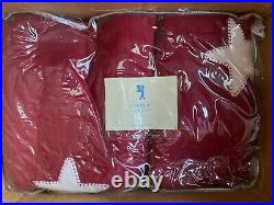 Pottery Barn Kids Twin Red Star Quilt Set NIP