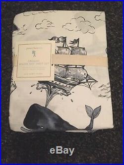 Pottery Barn Kids WILDER Pirate Ship Queen Organic Cotton Sheet Set NWT