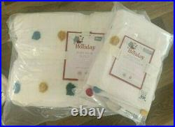 Pottery Barn Kids not just for Holiday Pom Pom TWIN QUILT euro sham