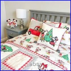 Pottery Barn Mickey Mouse TWIN SHEET SET holiday Christmas disney gift BED KID