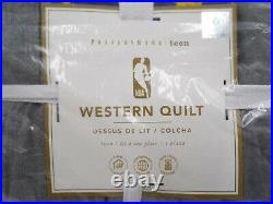 Pottery Barn NBA Basketball Western Conference Patchwork Quilt Twin #9788B