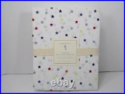 Pottery Barn Organic Percale Multi Color Mini Star Sheet Set Full #6626